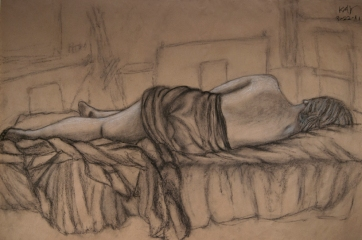 Life Drawing_Woman Figure (Charcoal)